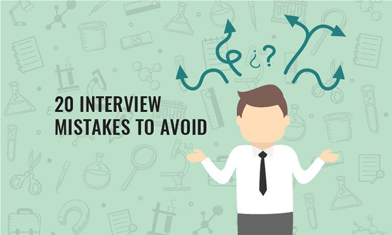 20 Interview Mistakes To Avoid  Job Interview Tips