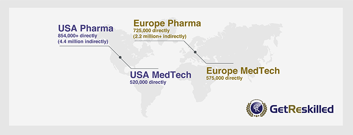 map-of-world-highlighting-usa-and-uk-with-pharmaceutical-industry-employment-figures