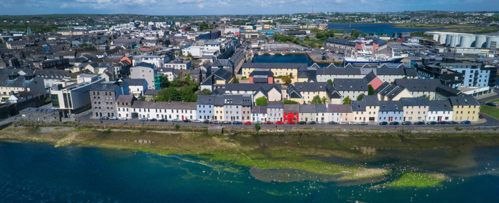 aerial view across galway ireland