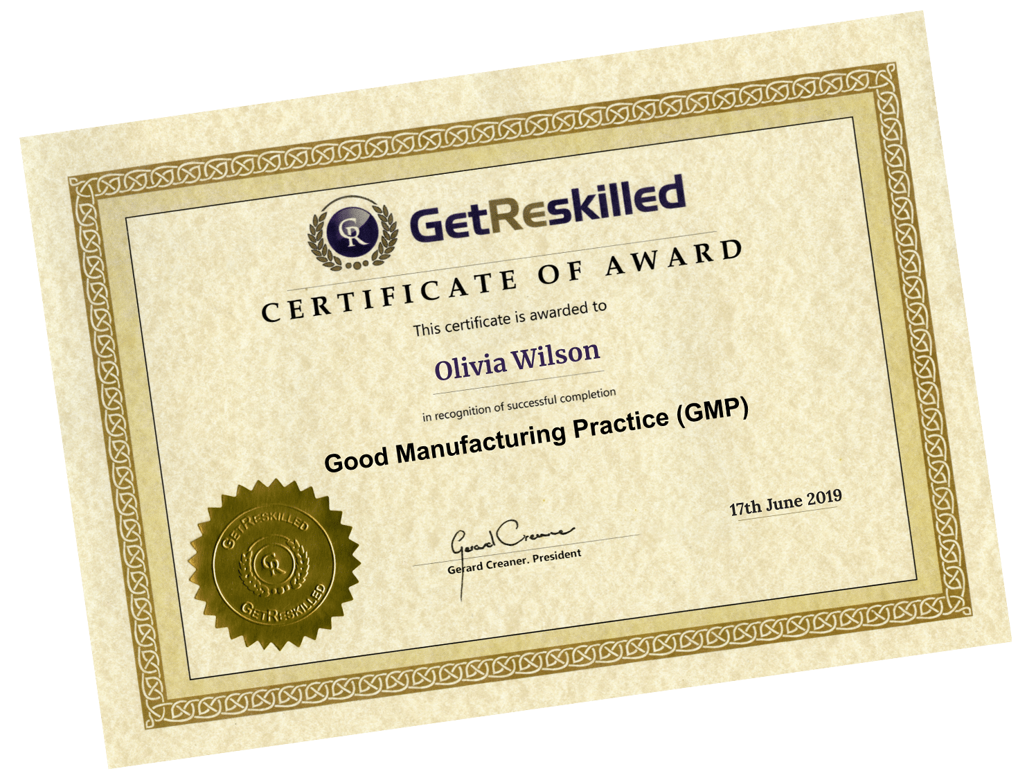 GMP training certification