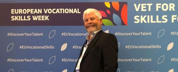 Gerry Creaner of Getreskilled at European Vocational Skills week