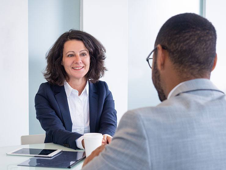 woman interviewing for pharma job with no experience