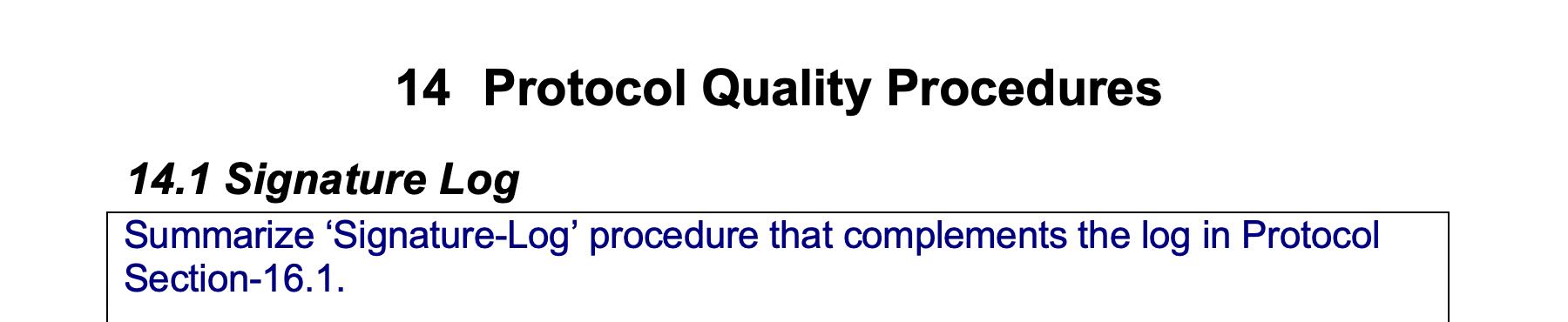 Protocol Quality Procedures GetReskilled