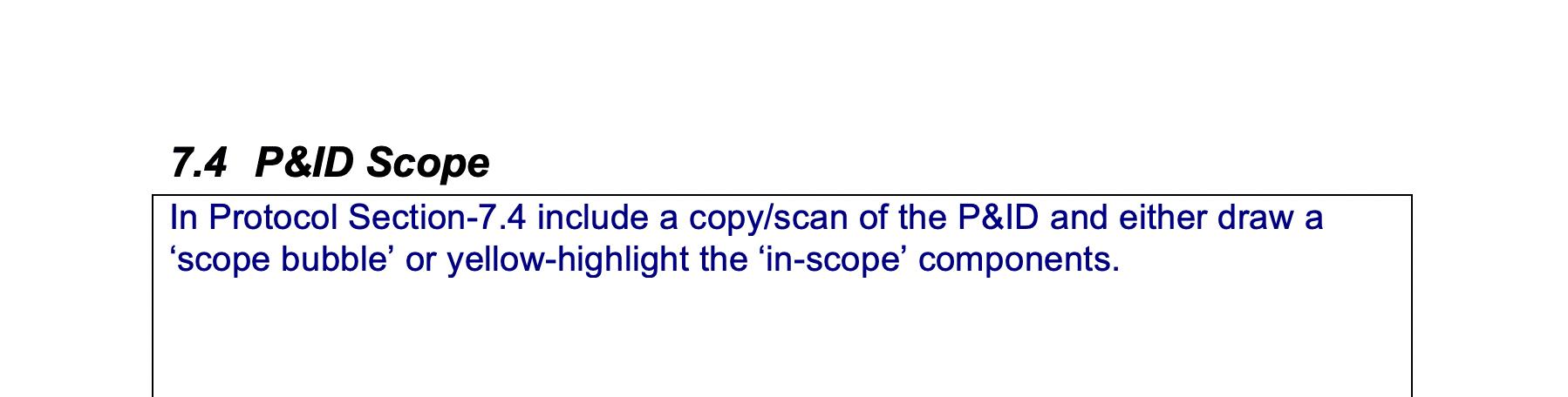 P&ID Scope