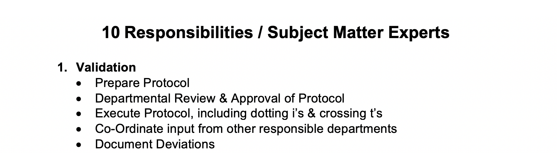 Responsibilities / Subject-Matter Experts GetReskilled