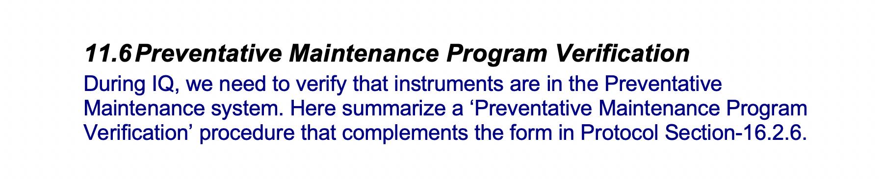 Preventative-Maintenance Program-Verification-GetReskilled