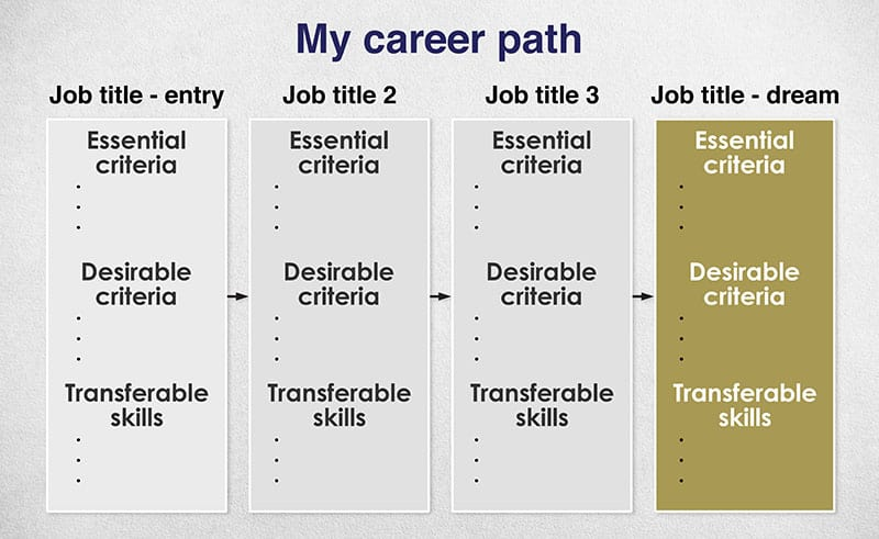 chart showing steps in career progression